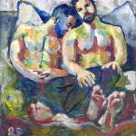 """Konked Out Gay Couple Napping"" by BeaconArtWorksCorporation"