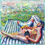 """""""Lakeside gay couple relaxing"""" by BeaconArtWorksCorporation"""