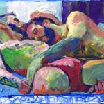 """""""Bromance Cuddle Gay couple napping"""" by BeaconArtWorksCorporation"""