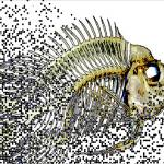 """Dot Matrix Fish Fuse Abstract"" by ecolosimo"