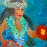 """Hula Girl with Green Lei"" by jennylee"