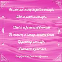 Counteract every negative thought by Diamante Lave