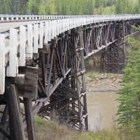 Kiskatinaw River Bridge Art Prints & Posters by Robert M. Braley Jr.