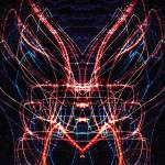 """ABSTRACT LIGHT STREAKS #118 - MOTH"" by nawfalnur"