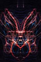 ABSTRACT LIGHT STREAKS #118 - MOTH