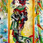 """The Courtesan after Van Gogh after Keisai Eisen"" by GinetteCallaway"