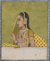 A portrait of a lady, India, Mughal, 18th century