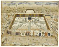 A large view of Mecca, India, 19th century