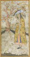 A maiden in a gold cloak, attributable to Muhammad