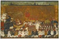 A state procession of Raja Tulsaji of Tanjore, Tan