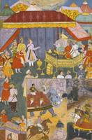 An illustration from the Razmnama, India, Mughal,