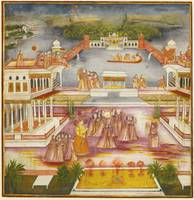 Asaf al-Daula, Nawab of Oudh, celebrating the spri