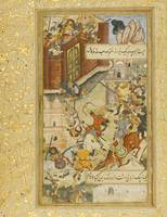Babur attempts to defend Akhsi, India, Mughal, cir