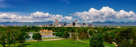 |Denver Skyline Panoramic City Park