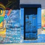 """""""Door in Graffiti Covered Wall"""" by rhamm"""