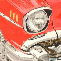 ClassicCarCloseUpHR Art Prints & Posters by Raymond Ore