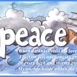 """""""Peace in Storm, typed text"""" by createdcreating"""