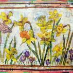 """daffodil art | mixed media | Dante"
