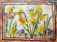 daffodil art | mixed media | Dante's Daffodils