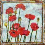 """poppy art | mixed media collage | Spring"