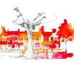 """""""Palmer Square, Princeton"""" by gregbetza"""