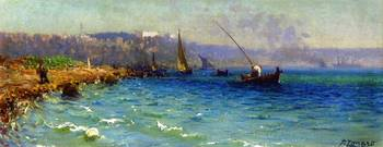 Fausto Zonaro A View Of The Bosphorous From The Ol