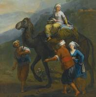 FRANCESCO ZUCCARELLI - TURKISH PILGRIMS EN ROUTE T