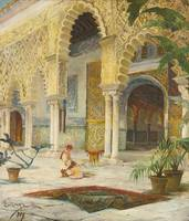 JULIO MONTENEGRO, THE COURTYARD OF THE ALHAMBRA 18