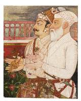 Man Singh with Khan Jahan Koka presenting the keys