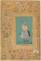 Portrait of Qilich Khan Turani, Folio from the Sha