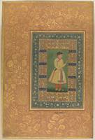 Portrait of Zamana Beg, Mahabat Khan, Folio from t