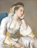 The Comtesse de Coventry in Turkish dress, signed