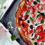 """Pizza Napolitana Gourmet Food Art"" by GinetteCallaway"