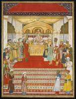 The emperor Akbar Shah II (r.1806-37) in Durbar, a