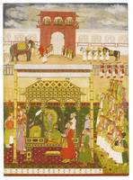 The Emperor Bahadur Shah I enthroned, attributable