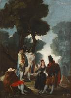 The Maja and the Cloaked Men, ca. 1777