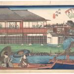 """""""Utagawa Hiroshige - The Ono at Ryogoku Yanagibashi"""" by motionage"""