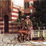 """Weeks Edwin Lord Girl in a Moorish Courtyard"" by motionage"