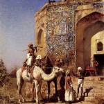 """Weeks Edwin Old Blue Tiled Mosque Outside Of Delhi"" by motionage"