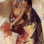 """Weeks Edwin Sketch Two Nautch Girls"" by motionage"