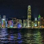 """Hong Kong Skyline By Night"" by PaulCoco"