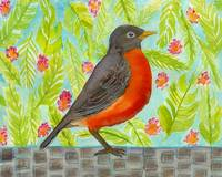 Leaf and Floral Robin