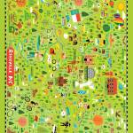 """Illustrated Map of Asheville, NC by Nate Padavick"" by TheyDrawandCook"
