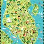 """Illustrated Map of Charleston, SC by Nate Padavick"" by TheyDrawandCook"