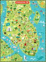 Illustrated Map of Charleston, SC by Nate Padavick by They Draw & Cook & Travel