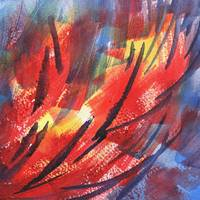 Wind Through Fire Abstract by Irina Sztukowski