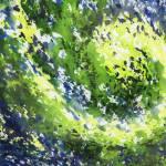 """Organic Curve Abstract Watercolor Irina Sztukowski"" by IrinaSztukowski"