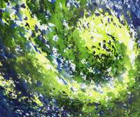 Organic Curve Abstract Watercolor Irina Sztukowski