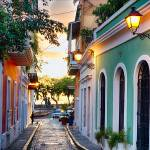 """Old San Juan Sunset Glow, Puerto Rico"" by George_Oze"