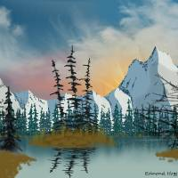 Sweet Mountain Sunrise Art Prints & Posters by Edmond Hogge